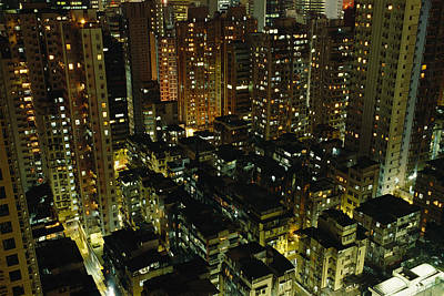 Inland View Of Sheung Wan And Central Art Print by Justin Guariglia