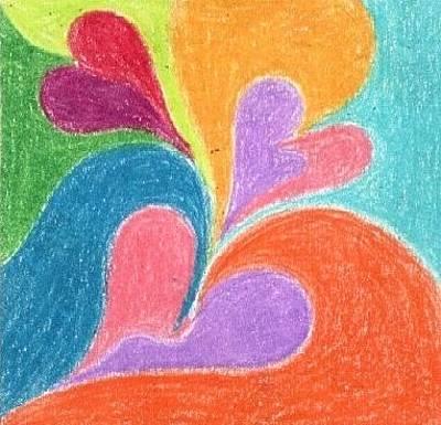 Corazones Drawing - Inlove by Judith Correa