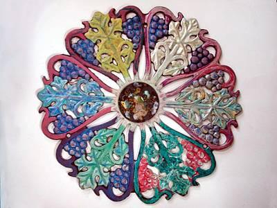 Enamel On Copper Glass Art - Inner Cosmos Expanding by Margaret Ann Johnson Wilmot