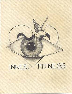 Contemplative Drawing - Inner Fitness by Jack Edwards