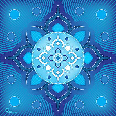 Digital Art - Inner Guidance - Blue Version by Soul Structures
