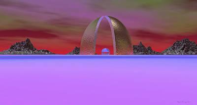 Spacescape Digital Art - Inner Sanctum Sanctorum by Wayne Bonney