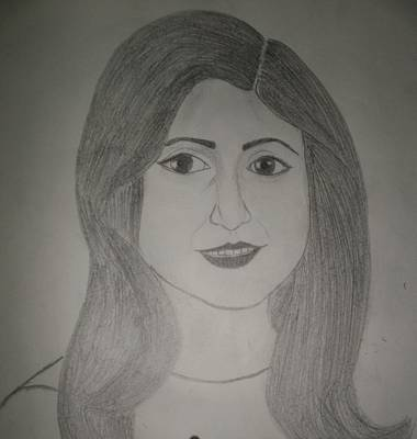 Simplicity Drawing - Innocence And Simplicity. by Kavita Singh