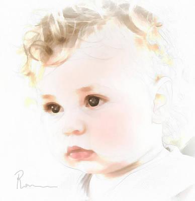 Toddlers Digital Art - Innocence by Georgiana Romanovna