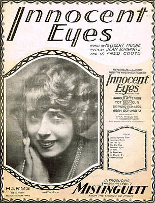 Old Sheet Music Photograph - Innocent Eyes by Mel Thompson