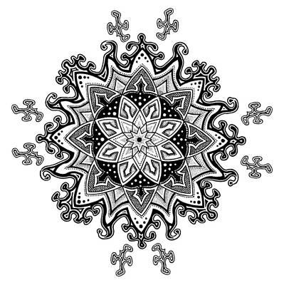 Innocent Snowflake Art Print by Ansel Cummings