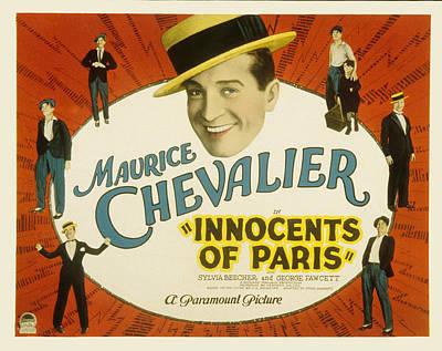 Innocents Of Paris, Maurice Chevalier Art Print by Everett