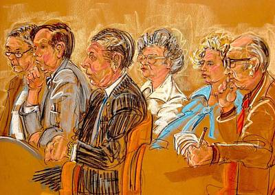 Painting - Inquest Jury by Les Leffingwell