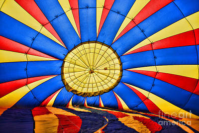 Inside A Hot Air Balloon Art Print by Paul Ward