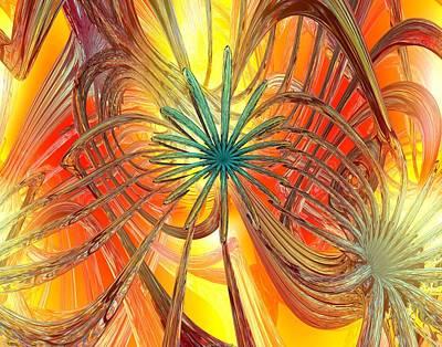 Bookmarks Digital Art - Inside An Abstract Heartbeat Fx  by G Adam Orosco