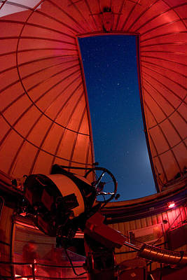 High Technology Devices Photograph - Inside An Observatory With Telescope by Greg Dale