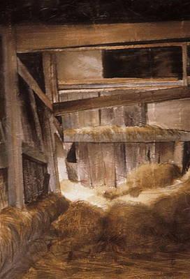 Inside Keeler's Barn Art Print