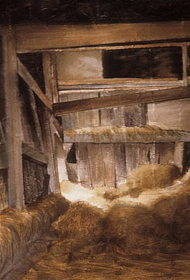 Inside Keeler's Barn Art Print by Karol Wyckoff