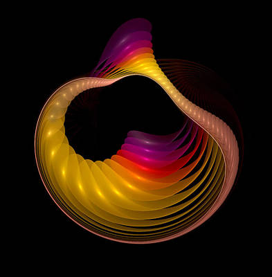 Mobius Strip Digital Art - Inside Out Shell  by Pam Blackstone
