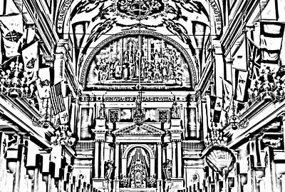 Byzantine Digital Art - Inside St Louis Cathedral Jackson Square French Quarter New Orleans Photocopy Digital Art by Shawn O'Brien