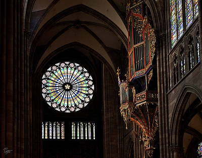 Photograph - Inside Strasbourg Cathedral by Endre Balogh