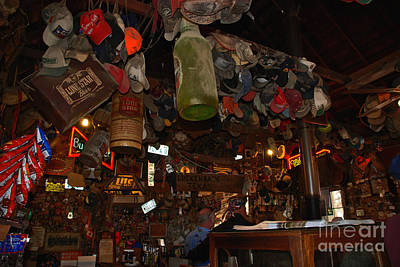 Luckenbach Photograph - Inside The Bar In Luckenbach Tx by Susanne Van Hulst