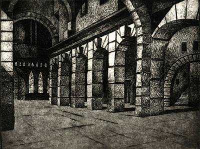 Printmaking Mixed Media - Inside The Cathedral by Robert Plog