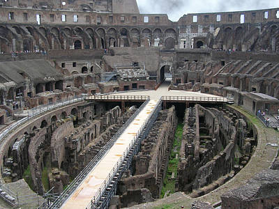 Photograph - Inside The Colosseum by Caroline Stella