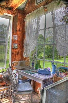 Sbatdorf Digital Art - Inside The Cottage by Sharon Batdorf