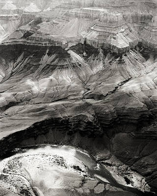 Photograph - Inside The Grand Canyon In Black And White by M K Miller
