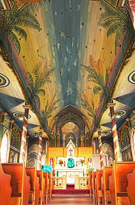 Inside The Painted Church Art Print