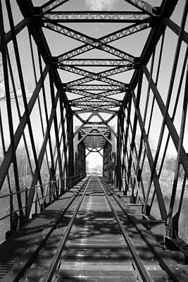 Photograph - Inside The Peshtigo Train Bridge by Mark J Seefeldt