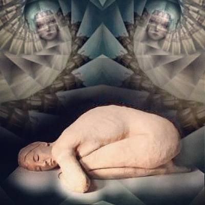 Horror Photograph - #insta_magical #horror #symmetry#sleep by Antonella Marani