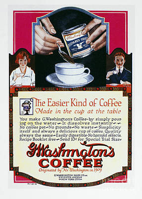 Photograph - Instant Coffee Ad, 1919 by Granger