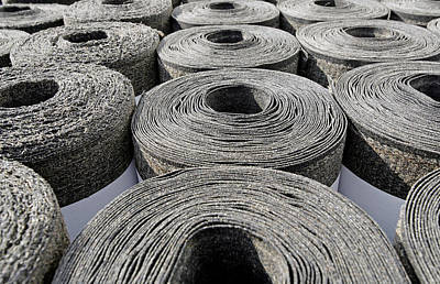 Rolled Yard Photograph - Insulation Material by Carlos Dominguez