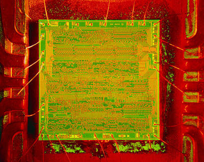 Integrated Photograph - Integrated Microchip by David Parker.
