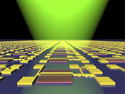 Integrated Nanowire Circuit, Artwork Art Print by Lawrence Berkeley National Laboratory