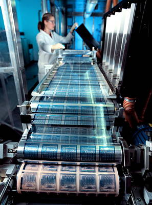 Intelligent Label Chip Manufacture Art Print by Volker Steger