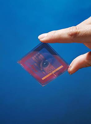 Intelligent Label Chip Art Print by Volker Steger