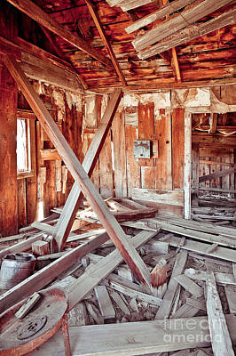 Mess Photograph - Interior Of Collapsing Wooden Shack by Eddy Joaquim