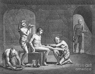 Interior Of Egyptian Bath Art Print by Granger