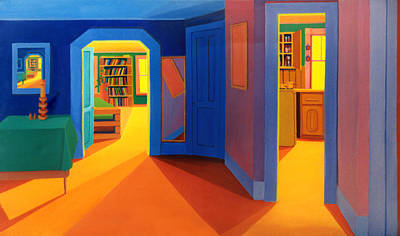 Painting - My Malden Apartment Interior by Nancy Griswold