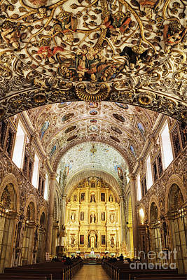Interior Of The Church Of Santo Domingo Print by Jeremy Woodhouse
