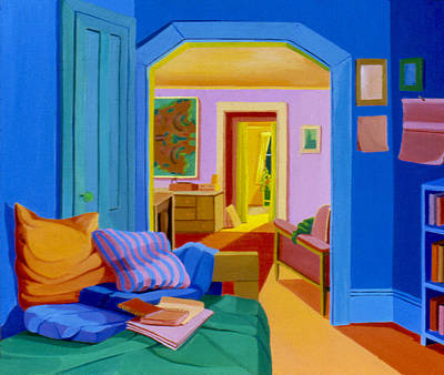 Painting - Interior Rooms 1977 by Nancy Griswold