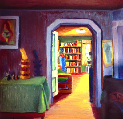 Painting - Interior Study Malden 1977 by Nancy Griswold