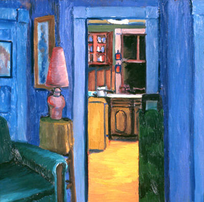 Painting - Interior Two Malden 1977 by Nancy Griswold