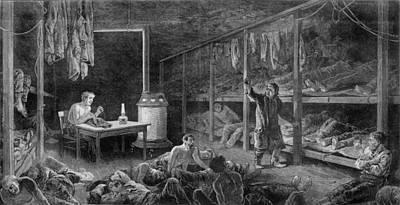 Interior View Of New York City Lodging Art Print by Everett