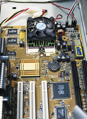 Integrated Photograph - Internal Parts Of A Personal Computer by Andrew Lambert Photography