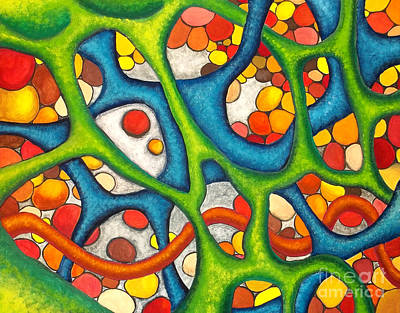 Physiology Painting - Internal Passage by Nancy Mueller