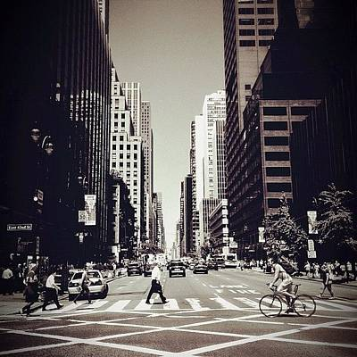Cycling Wall Art - Photograph - Intersection - New York City by Vivienne Gucwa