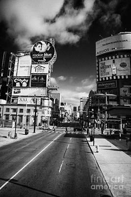 Intersection Of Yonge And Dundas At Yonge-dundas Square Toronto Ontario Canada Art Print by Joe Fox