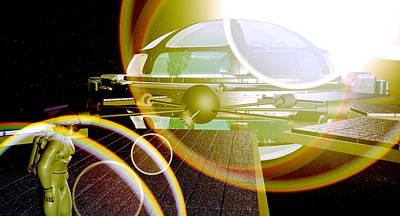 Interstellar Spaceship Art Print