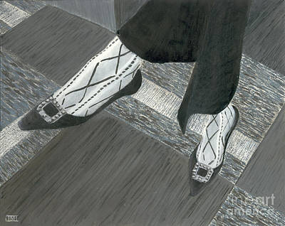 Fancy Shoes Painting - Interview Shoes 2 by Jackie Irwin
