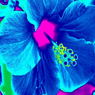 Digital Art - Intimate Blue by Keren Shiker