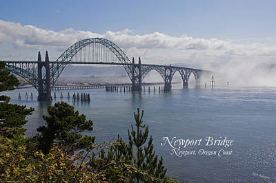 Photograph - Into The Fog At Newport With Text by Mick Anderson